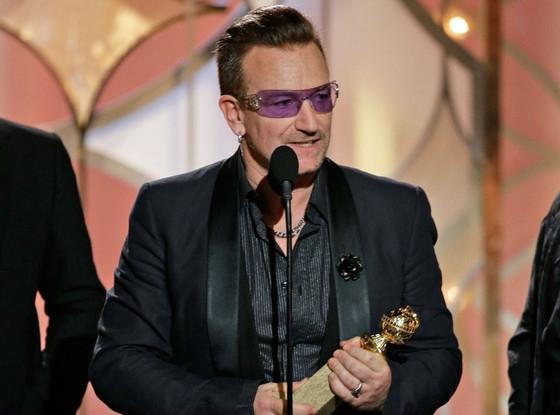 U2's Bono - 2014 Golden Globes