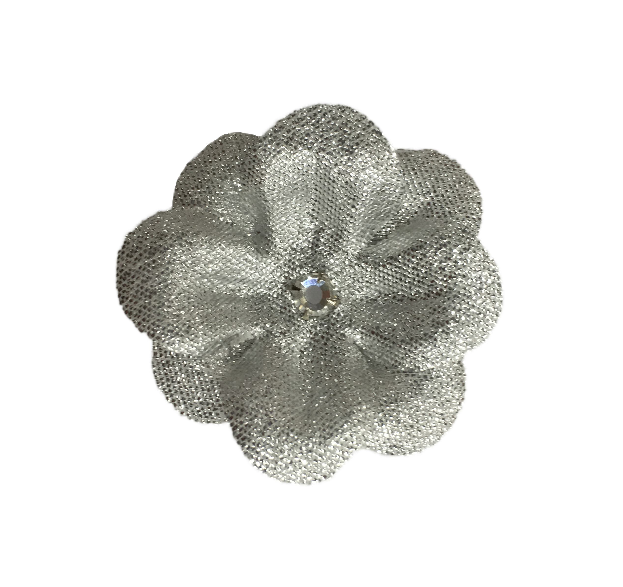15 Silver Silk Flower Clips Set Of 2 Ms Schmalberg