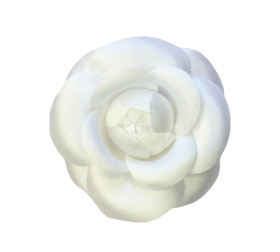 2 75 White Silk Satin Camellia Brooch Pin M S Schmalberg