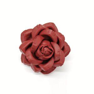 5″ Metallic Gold Lamé Jeweled Carnation Brooch Lapel Pin