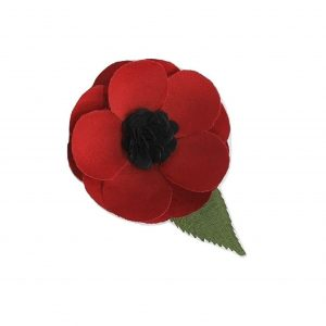 Red Poppy Flower Pin